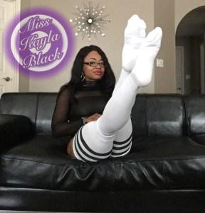 thigh high socks, eyeglasses, girls with glasses, ebony, ebony goddess, Miss Kayla, Miss Kayla Black