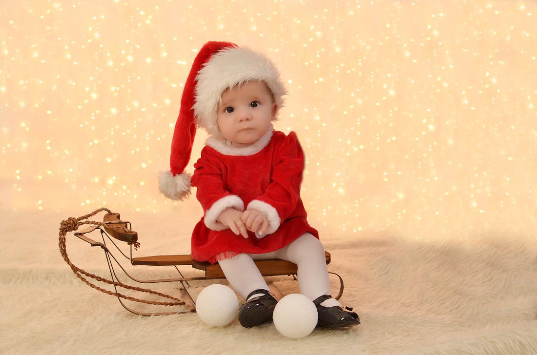 Christmas Baby Miss Lala Photography