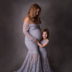 mermaid maternity gown, maternity dresses for photoshoot, maternity dresses for photography, baby shower dresses, maternity gown, fitted, jersey, lace, mommy and me set