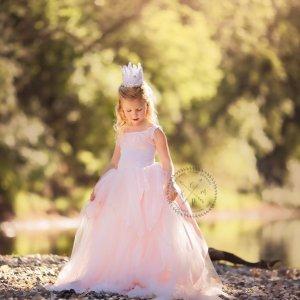 princess dress, Girls princess gown, tutu, tulle dress