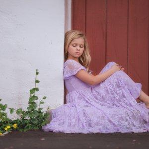 Girls lace dress, girls formal dress, girls gown, flower girl, milestone, birthday dress