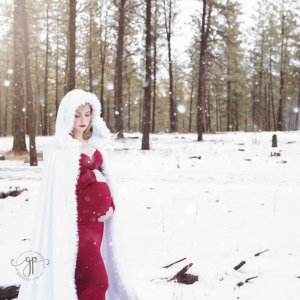 Maternity gown, winter cape, women's dresses, photography, photoshoot, baby shower, bridesmaid