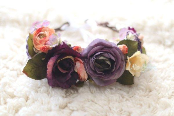 Head wreath, plum, autumn, fall, grapevine