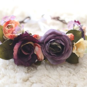 Head wreath, plum, autumn, fall, grapevine