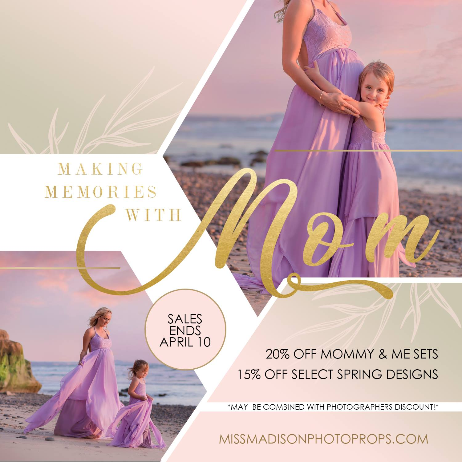 Mother's Day sale, maternity photo shoot, mommy and me