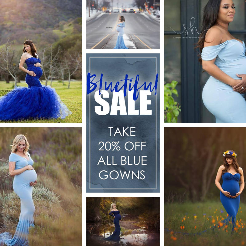 Fathers Day Sale! Take 20% Off All BLUE gowns for 6-Hours Only!