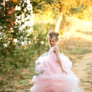 girls princess dress, girls tulle gown, girls birthday dress