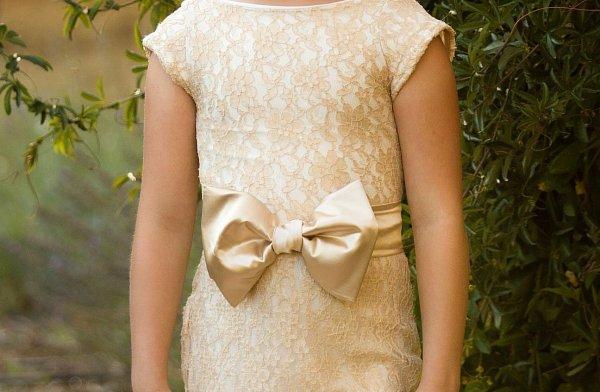 bow sash, satin, girls dress, flower girl