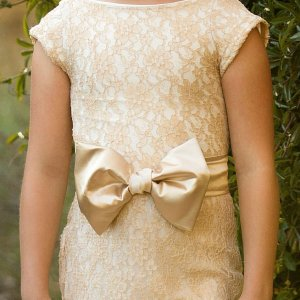 bow sash, satin, girls dress, flower girl