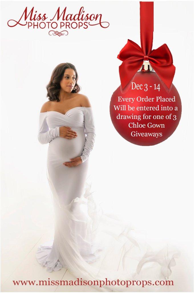 Chloe maternity gown, long sleeved maternity dress, maternity gown photography, maternity dress for photoshoot