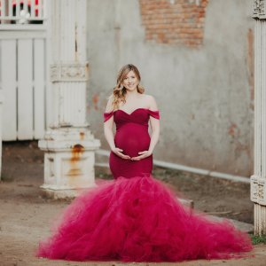elegant maternity gown, tulle maternity dress, Tulle Maternity Gown, Baby Shower Dress, Maternity Dress for Photoshoot, maternity gown photography