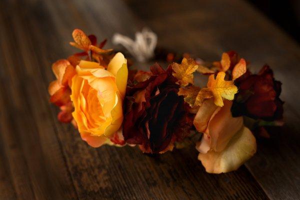 Flower crown, headwreath, maternity flower crown, fall flowers