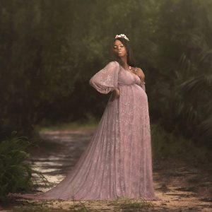 lace maxi maternity gown, boho maternity dress, ruffled neckline, Flounce Maternity Dress, maternity dresses for photoshoot, maternity dresses for photography, baby shower dresses, maternity gown, fitted, jersey, ruffle