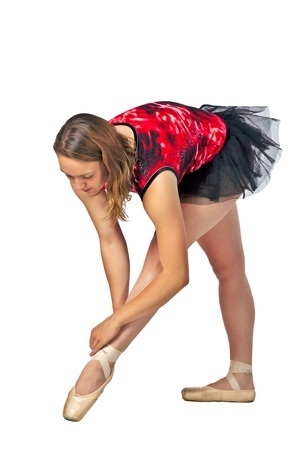 Ballerina Warming Up by David Gilbert