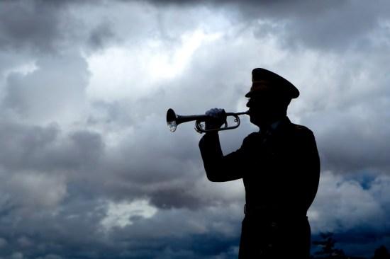 Bugler silhouette via 123rf.com
