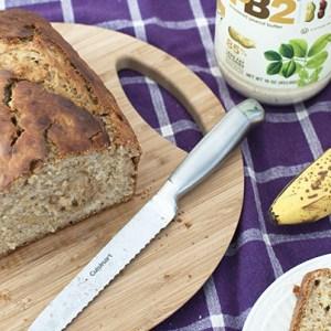 | Healthy Peanut Butter Banana Bread Recipe featured by top Atlanta food blogger, Miss Molly Moon