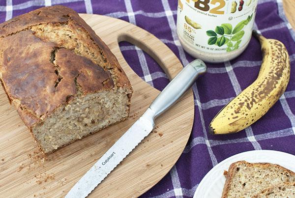 Healthy Peanut Butter Banana Bread Recipe