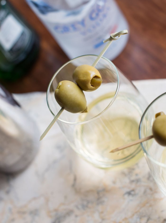 Dirty Vodka Martini with Jalapeno
