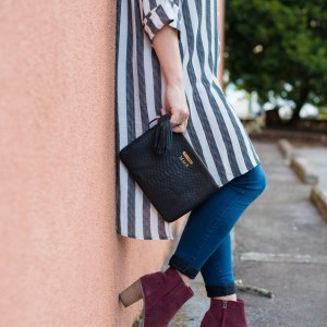 Fab'rik Tunic, Gigi New York Bag, Tom's Booties