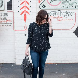 Star Print Blouse // Miss Molly Moon