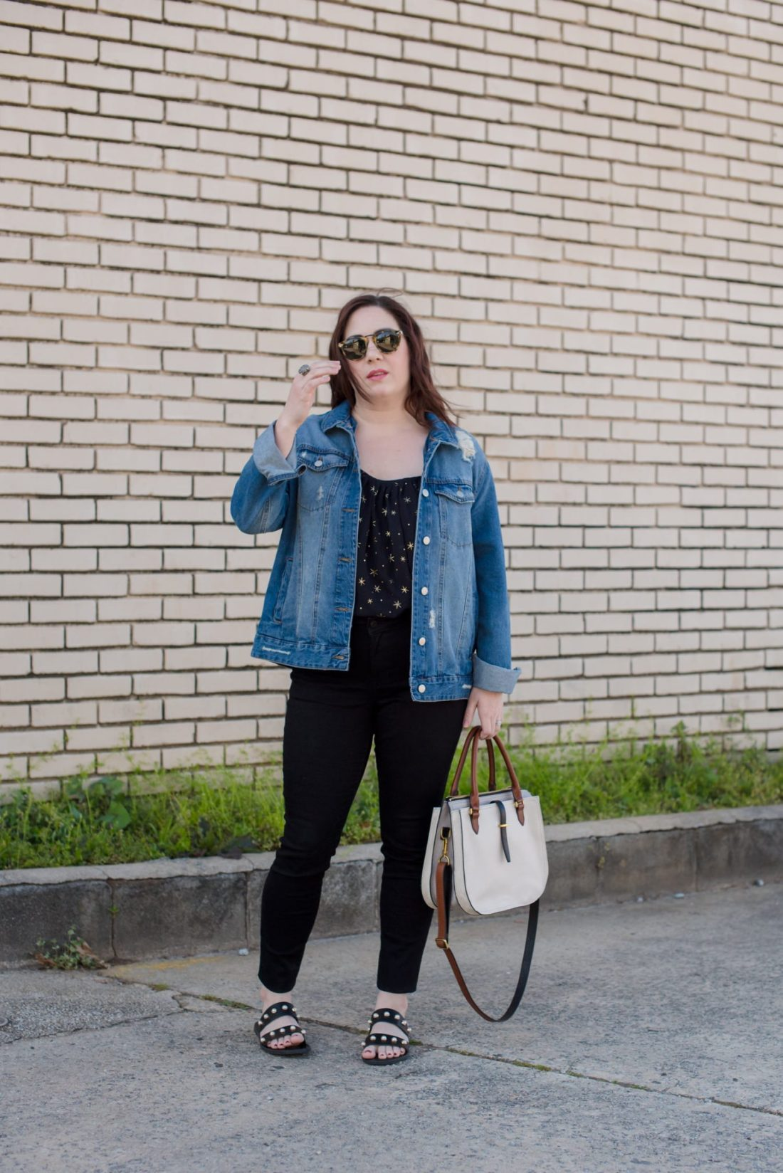 Destructed Denim and Stars // Miss Molly Moon