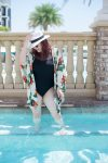 Finding Body Confidence at 30 // Miss Molly Moon   How to find body confidence at 30, featured by top Atlanta life and style blogger, Miss Molly Moon: image of a woman wearing a Vera Bradley swimsuit, target Panama hat, ASOS floral kimono