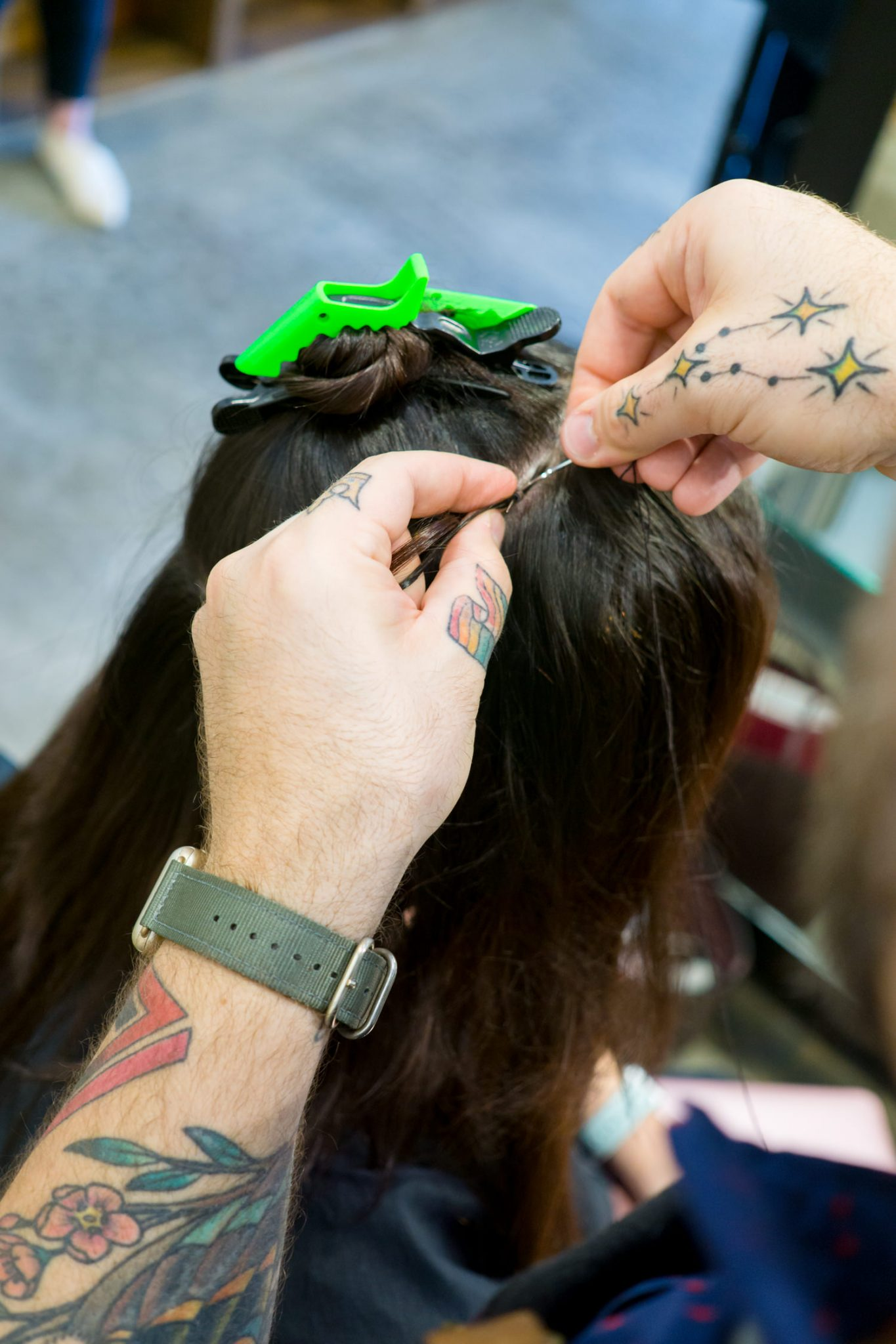 My Experience with Hand-Tied Hair Extensions featured by top Atlanta beauty blog Miss Molly Moon