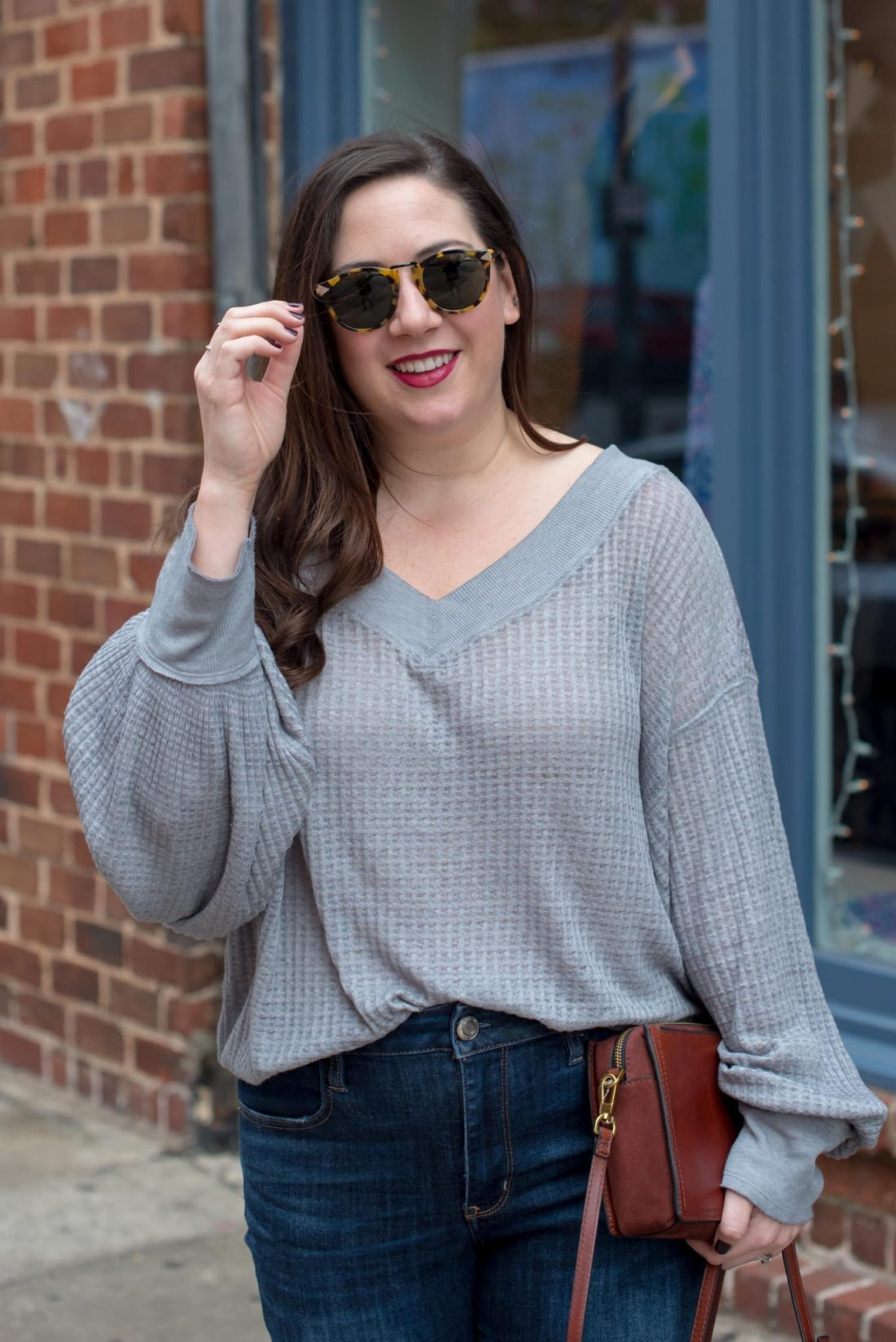Try the Trend: Slouchy Free People Thermals tops featured by top Atlanta fashion blog, Miss Molly Moon