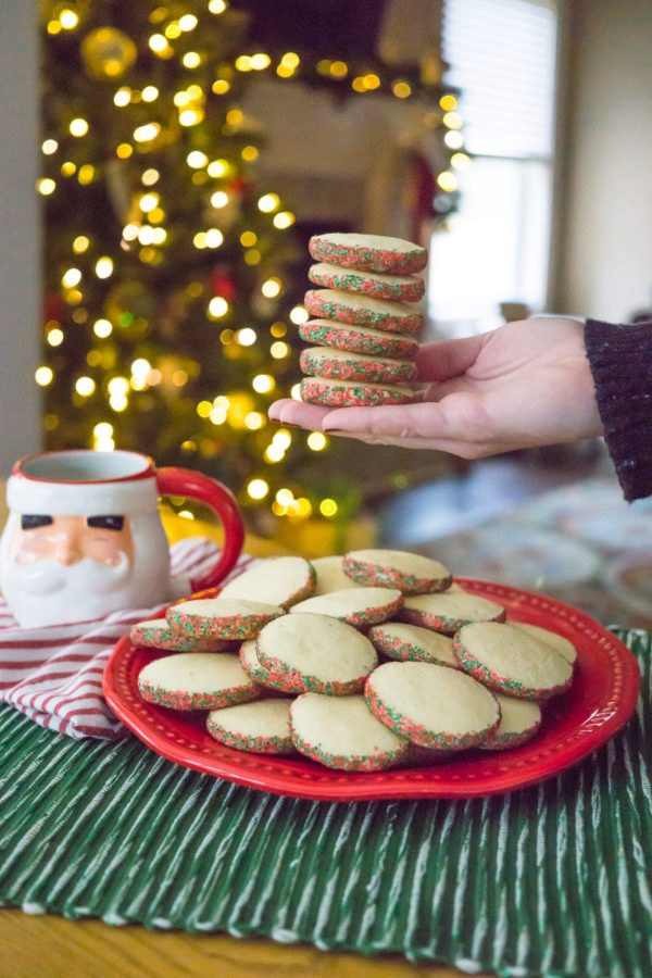 Easy Peppermint Sugar Cookies for the Holidays // Miss Molly Moon | Peppermint Southern Tea Cakes Recipe featured by top Atlanta foodie blogger, Miss Molly Moon