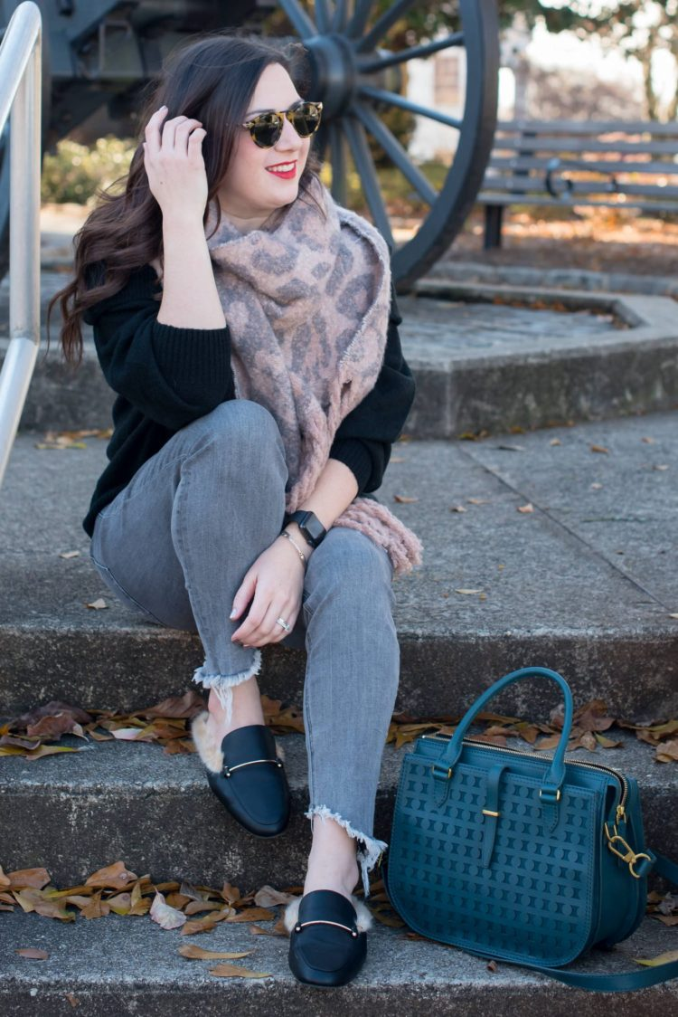 Cozy & Casual Winter Style + Leopard is a Neutral // Miss Molly Moon