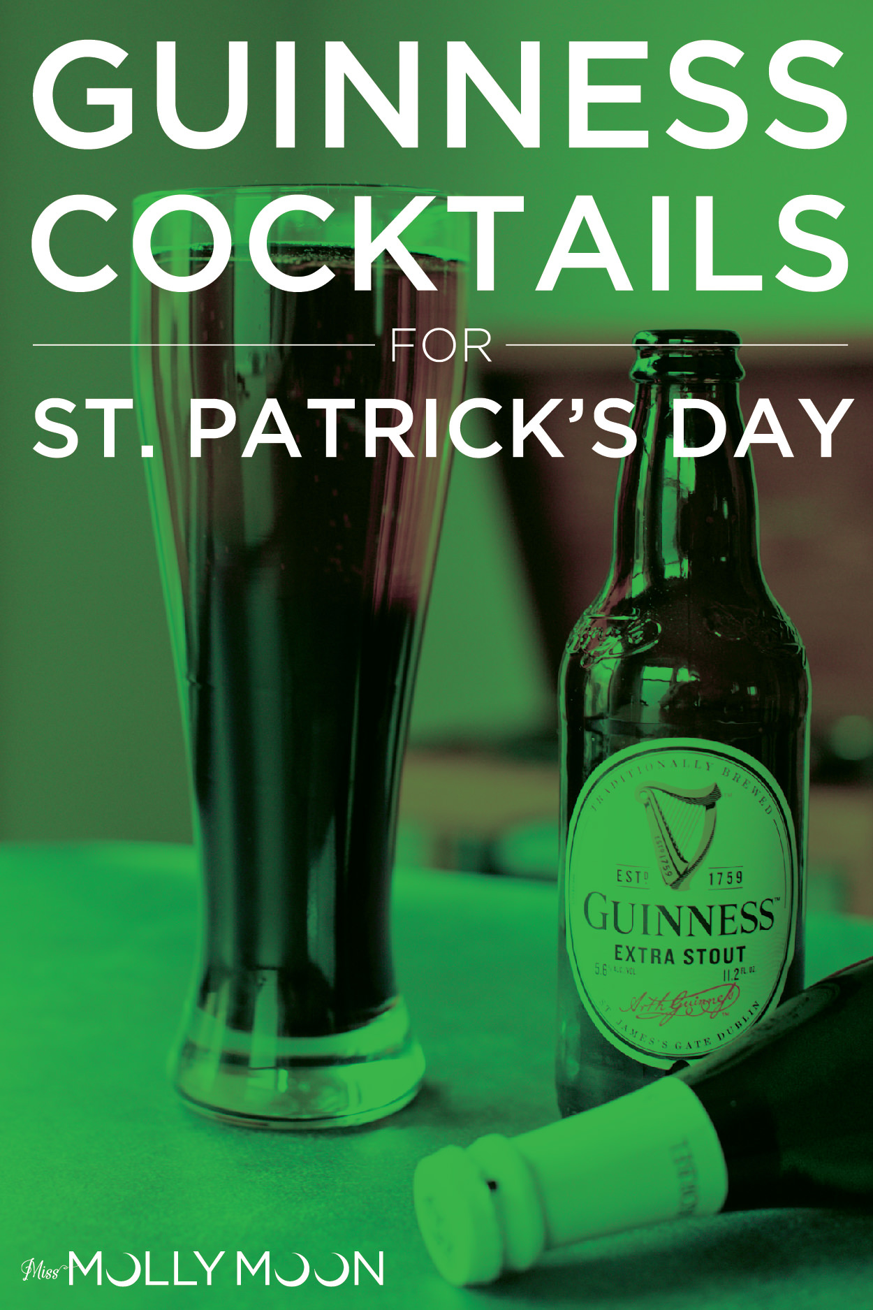 3 Easy St. Patrick's Day Cocktails | Miss Molly Moon