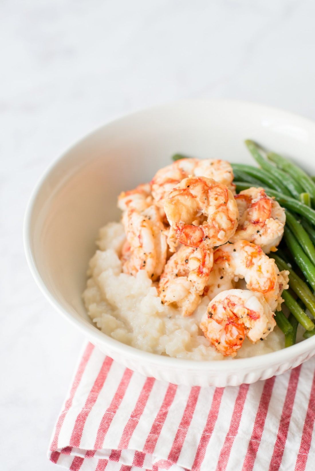 Healthy, Low Carb Shrimp & Grits