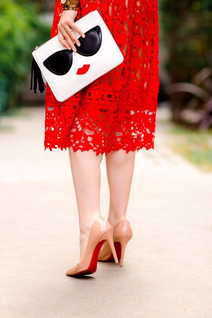 Red Lace, Red Soles: the Perfect Valentines Day Look