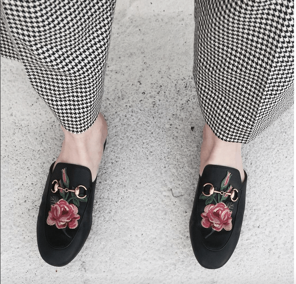 gucci floral slippers