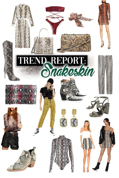 Snakeskin trend report