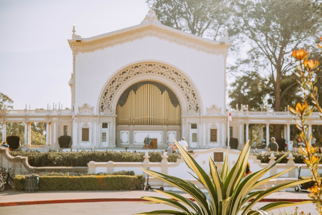 outdoor organ in Balboa Park, San Diego