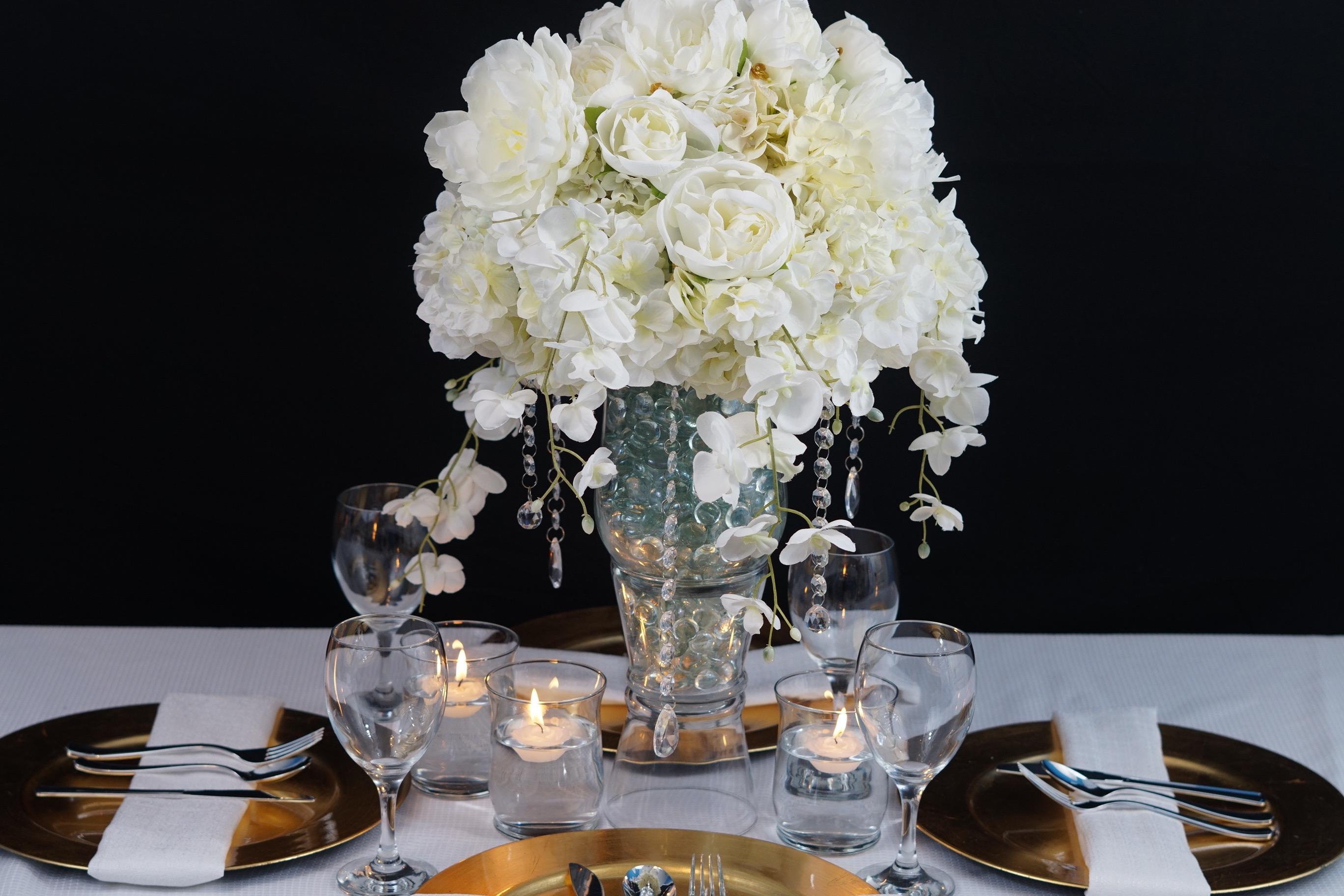 DIY Tutorial Heavenly Dream Winter Wedding Centerpiece