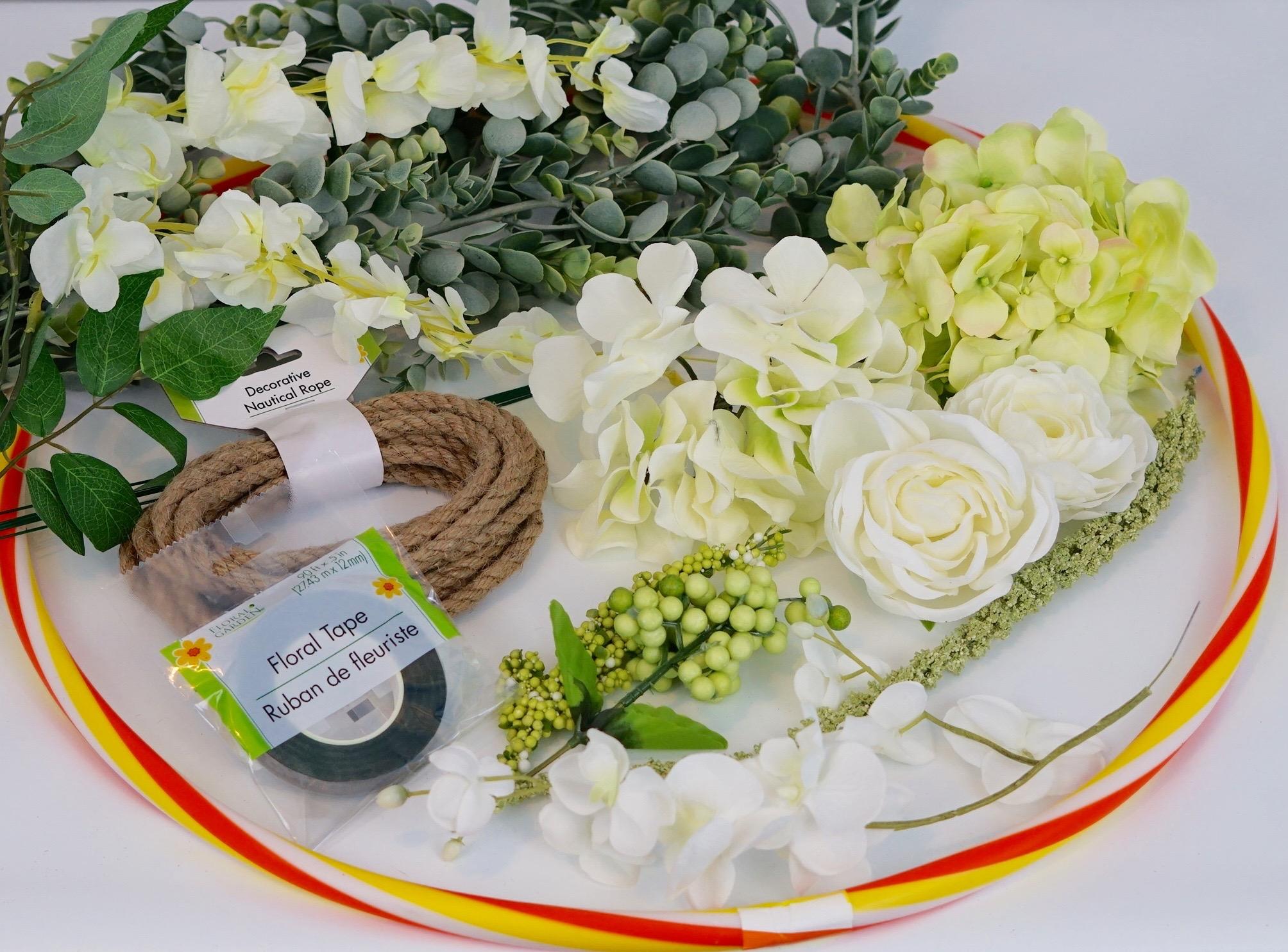 DIY Hula Hoop Romantic Floral Canopy