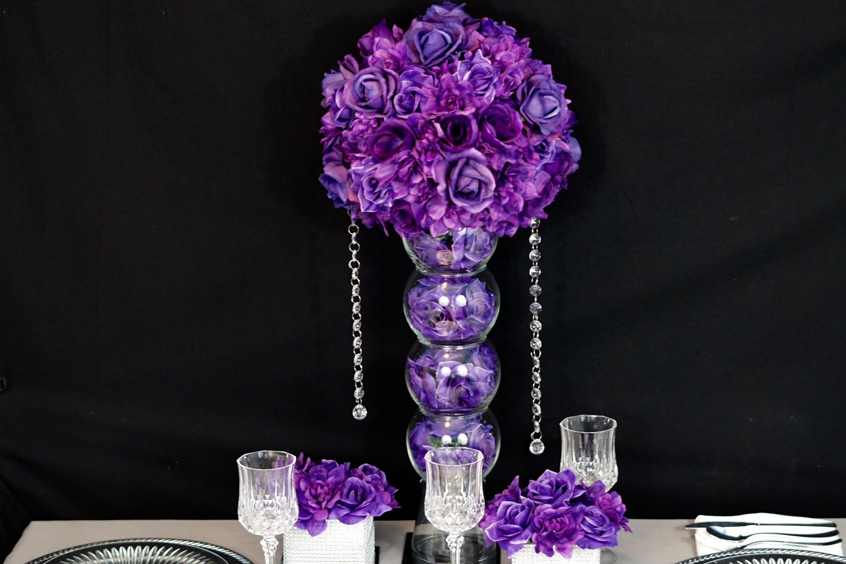Diy purple passion wedding centerpiece in 3 easy steps i absolutely love how this purple passion wedding centerpiece thank you shunika for letting us be apart of your special day junglespirit Image collections