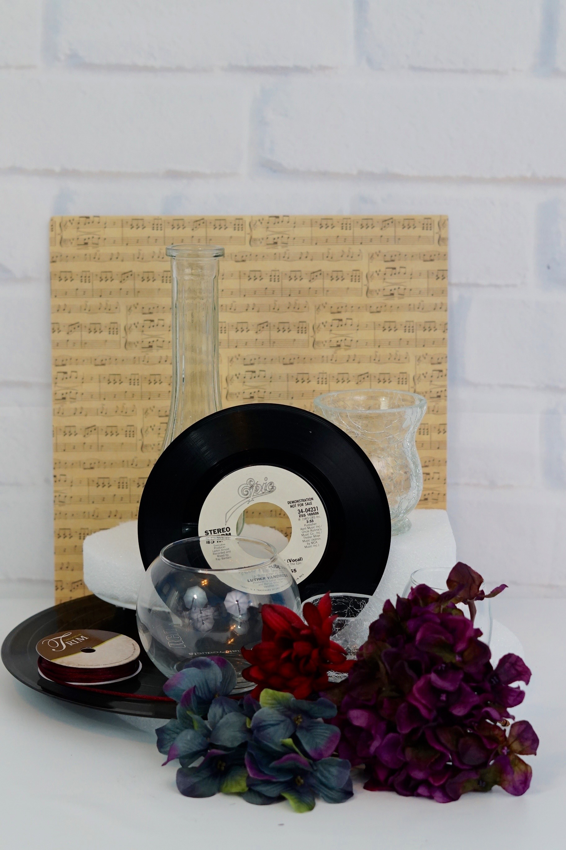 Dollar Tree Inspired Vintage Record Wedding Centerpieces For Under 20