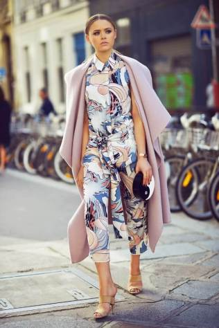 3. yin yang clutch with abstract print jumpsuit - 9 Chic Night Out Outfits Ideas