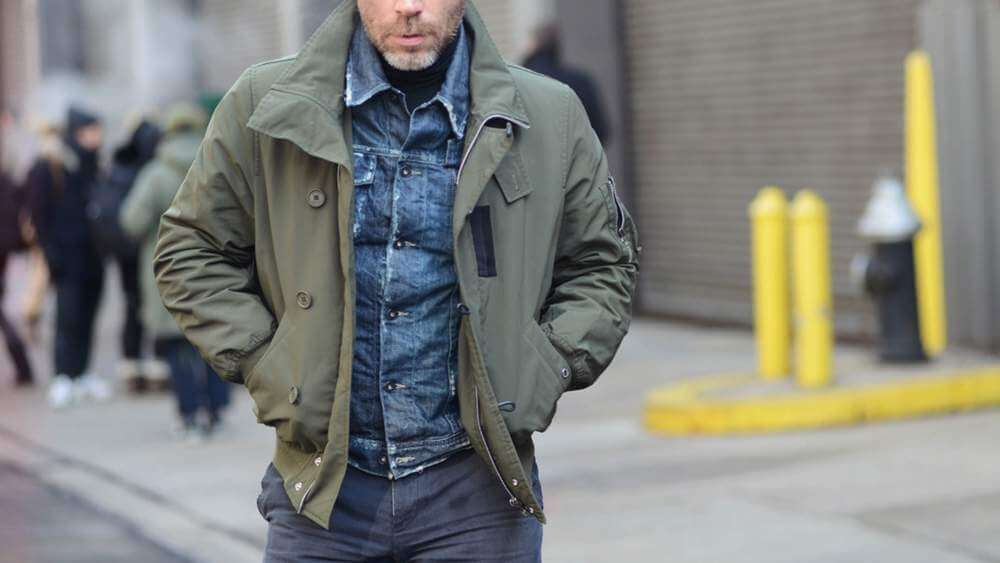 Military Style Jacket man