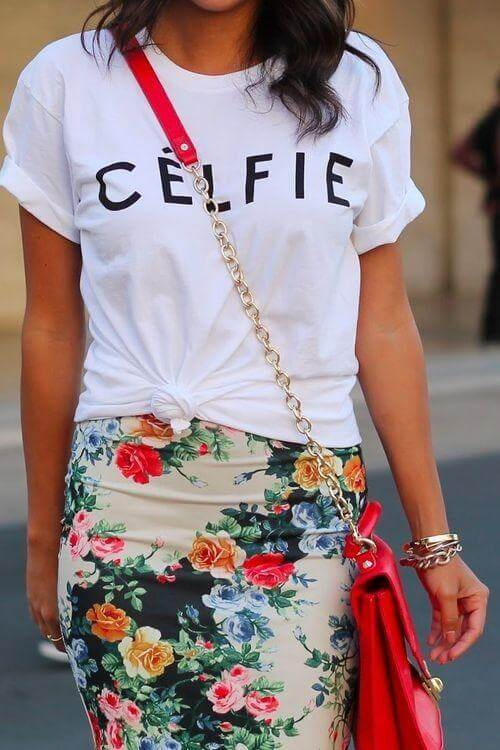 Pencil Skirts with Tee