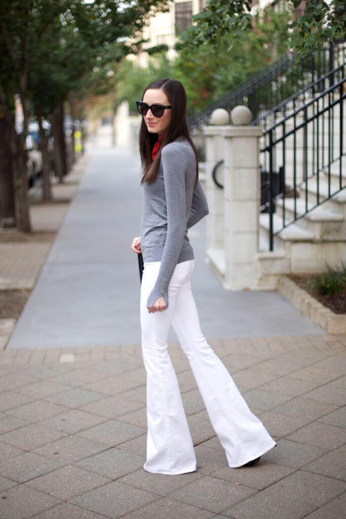 White Jeans with an All-grey Look