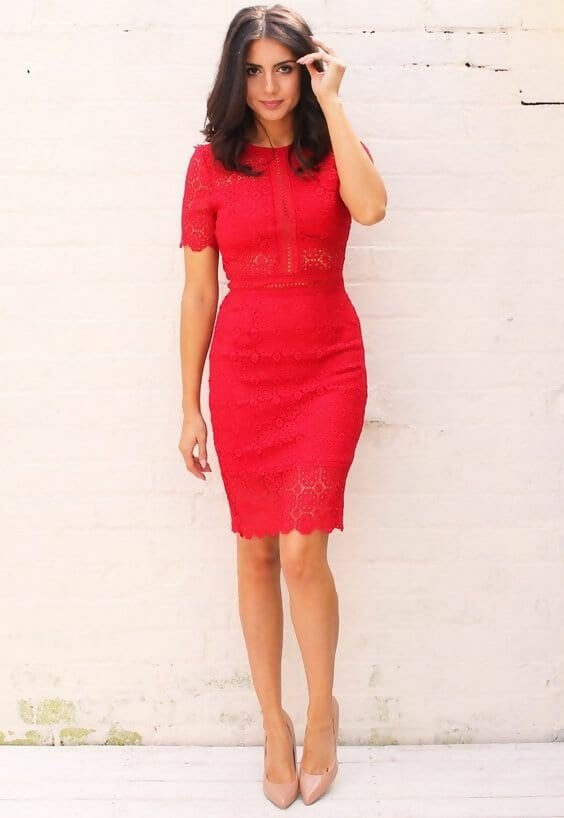 what shoe colour goes with red dress