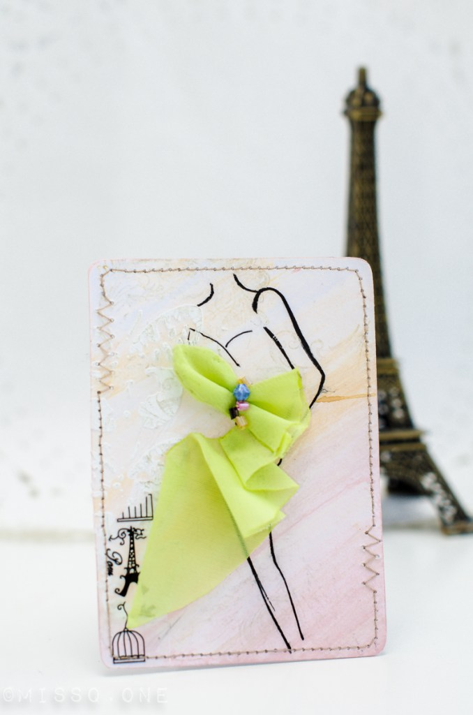 ATC card with Party dress