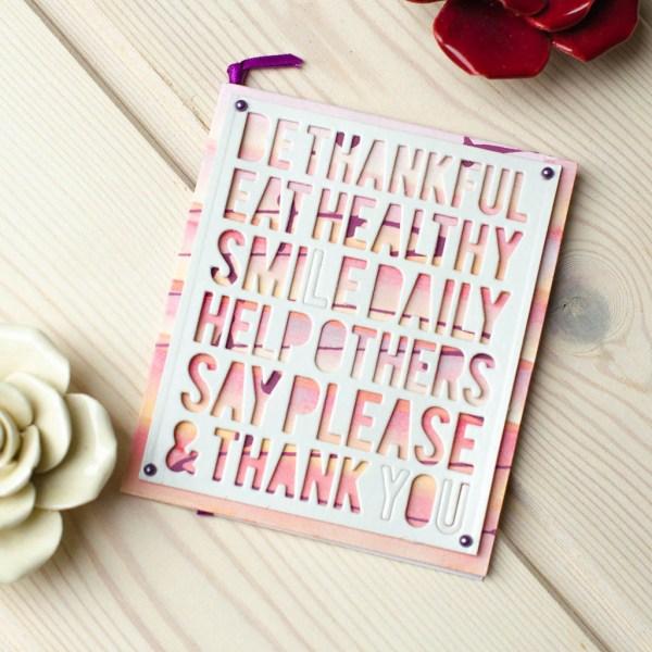 """MissQ kort """"Be thankful"""""""