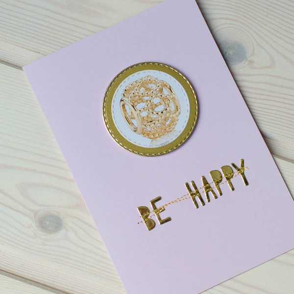 "MissQ kort ""Be happy"""