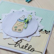 """MissQ kort til baby """"Hello"""""""
