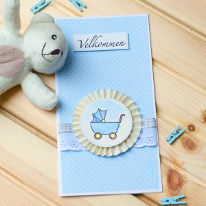 """MissQ kort til baby """"Velkommen"""""""